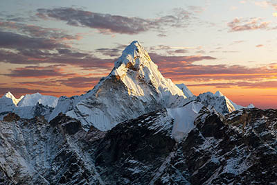 Evening view of Ama Dablam